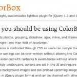 jQuery ColorBox snippet